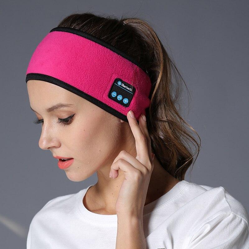 Draadloze Bluetooth Hoofdtelefoon Slaap Hoofdband Hoed Zachte Warme Sport Slimme Cap Smart Speaker Stereo Sjaal Headset Met Microfoon