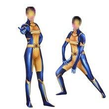 Adult Kids Costume Cosplay Superhero X-MEN X Police X-23 Wolverine Zentai Bodysuit Heroine Jumpsuits