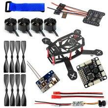 JMT DIY 150MM FPV Racing Drone Parts H150 Frame 4000KV Motor 12A 4 IN 1 ESC FS-X6B Receiver SP Racing F3 Q25 Camera