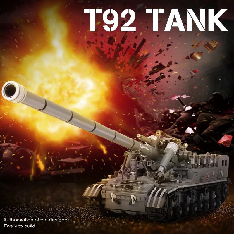 XingBao Creative WW2 Military Series The T92 Tank Legoe Tank Children Education Building Blocks Bricks Toys Model Gifts 1389Pcs