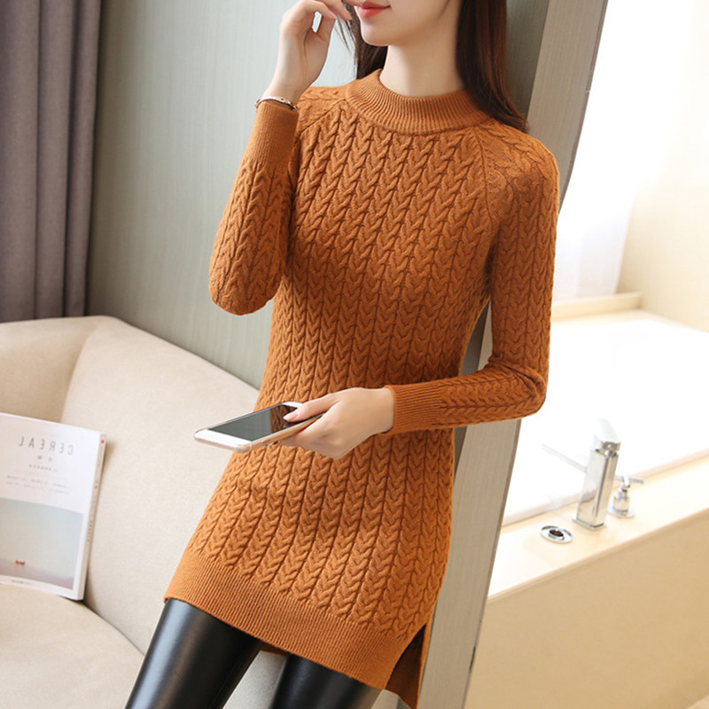 Autumn Winter Twist Sweaters Women Turtleneck Knitted Pullovers sweater High Quality Long Female vintage Warm Elegant Pullovers