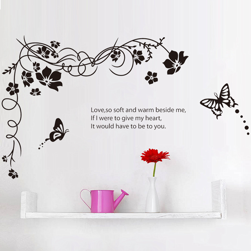 Vine Erflies Quotes Wall Sticker