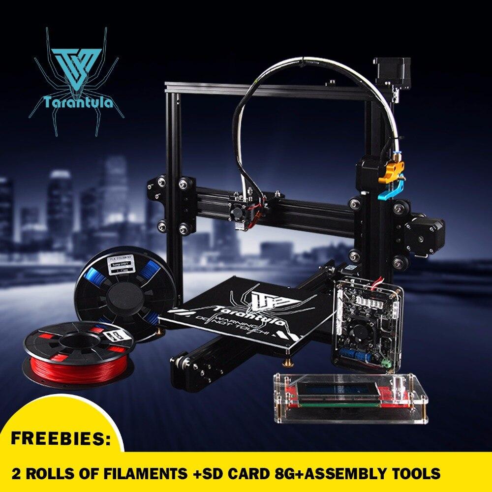 Prix pour 2017 Date TEVO Tarantula Prusa i3 3d imprimante et Imprimante 3D DIY kit impresora 3d imprimante Livraison 2 Filaments et 8G carte SD comme cadeau!
