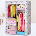 Reinforcing steel worm family cloth wardrobe simple wardrobe closet shipping special offer dust-proof combination