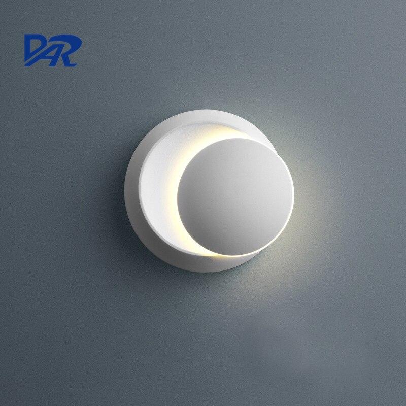 2017 дар Настенные светильники черный, белый цвет 90-260 В настенный светильник в помещении настенный светильник LED Спальня вращающийся позолоченный металл 5 Вт LED Бра