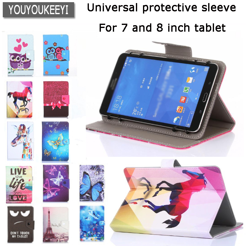 Cartoon Printed PU Leather Case Cover for Prestigio Grace 3118 3318 3G 8 inch Tablet Universal PU Leather Stand Case +3 Gifts for prestigio multipad wize 3057 tablet 7 inch case universal pu leather stand cover case russia for supra m74ag 3 gifts