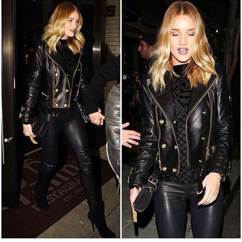 Free Shipping,wholesales.fashion Slim Genuine Leather Coat.women Biker Plus Size Sheepskin Jacket Brand,quality,Street Clothes