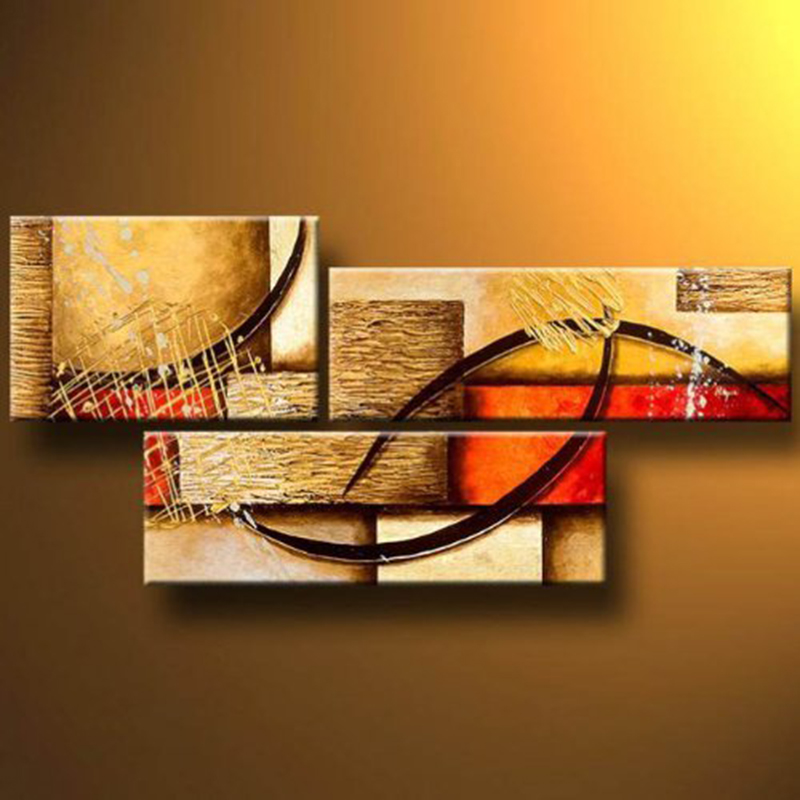 3pc/set Pure hand-painted oil painting High Quality Abstract Wall Art High-end hotel office living room Corridor Decoration
