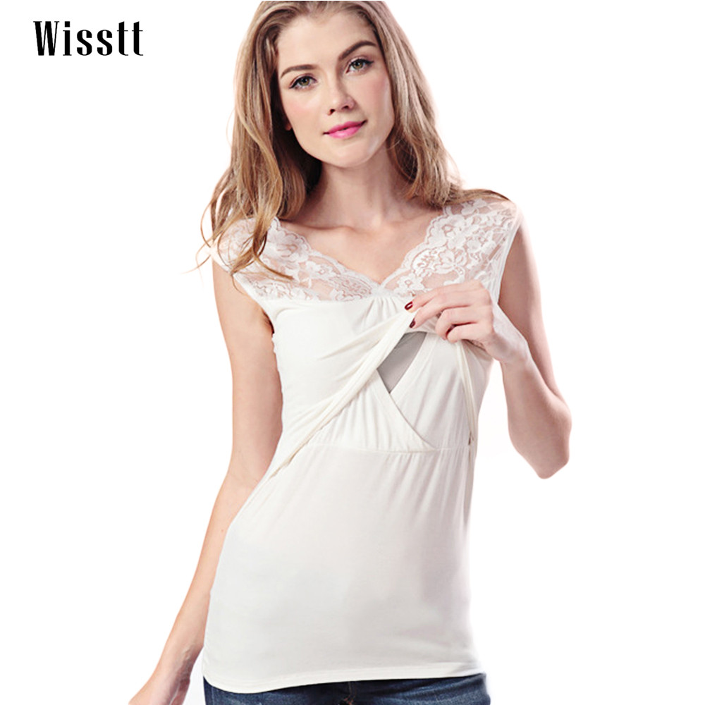 Wisstt Maternity Shirt Breastfeeding Top Undershirt Camis Sleeveless Dresses For Pregnant Womens Modal Tank Tops Nursing Clothes
