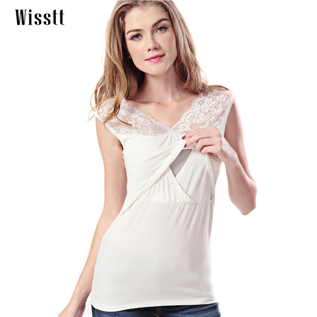 70ae26c6c6026 Wisstt Maternity Shirt Breastfeeding Top Undershirt Camis Sleeveless  Dresses For Pregnant Womens Modal Tank Tops Nursing Clothes