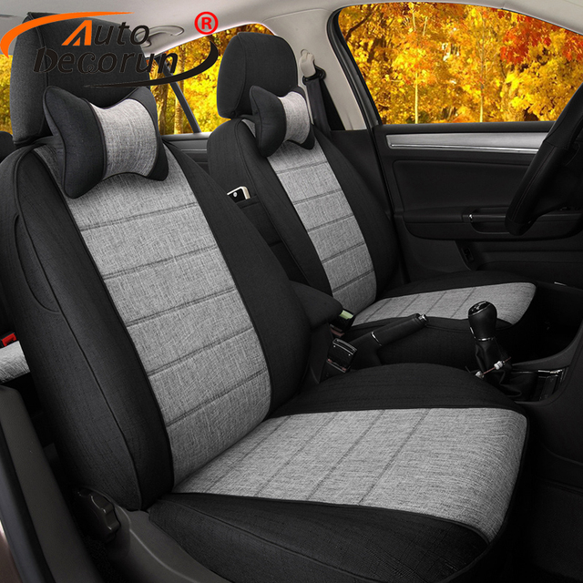 AutoDecorun Customized Linen Fabric Covers Car Seat Styling For - Acura rdx seat covers