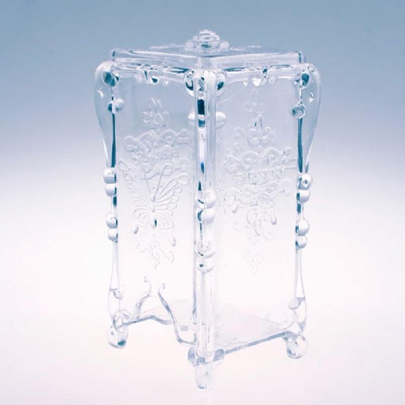 Домашняя коробка для хранения макияжа ватный диск косметический Органайзер для ювелирных изделий чехол для хранения коробка держатель бабочка MEL#48095