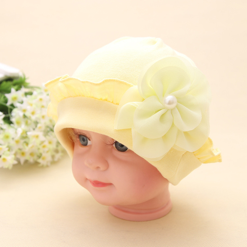 80bbba026ac Brand New Beautiful Flower Baby Hat Solid Crochet Baby Beanie Boys Girls  Hats Lovely Baby Knitted Caps Lovely Baby Accessories-in Hats   Caps from  Mother ...