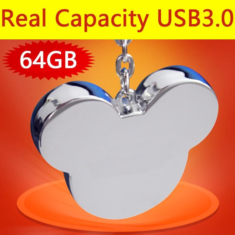 USB 3.0 High Speed Mickey Metal Cute Usb Flash Drive 512GB Pen Drive 64GB 32GB Pendrive 16GB 8GB Gift Disk On Key Memory Stick