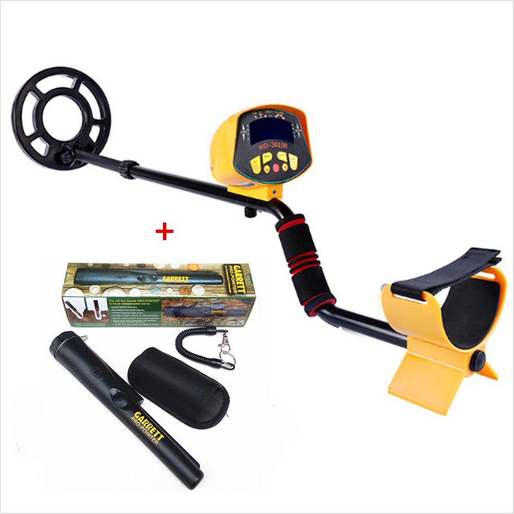Hot Sale Professional Metal Detector MD3010II Underground Metal Detector and LCD Display MD-3010II Metal Detector + PRO Pointer цена