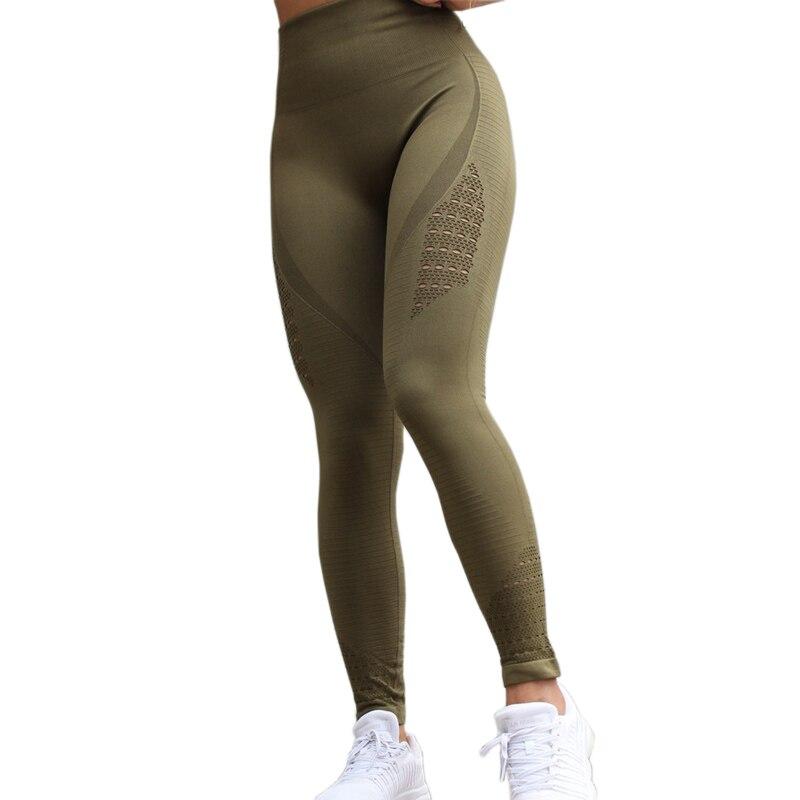 <+>  Женщины Йога Леггинсы Спорт Бег Спортивная Одежда Эластичные Фитнес Леггинсы Бесшовные Tummy Control ✔