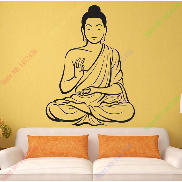 Aliexpresscom  Buy Free Shipping Vinyl Wall Sticker Buddha Yoga - Vinyl wall decals asian
