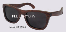 retro black bamboo sunglasses for driving, fishing or travelling
