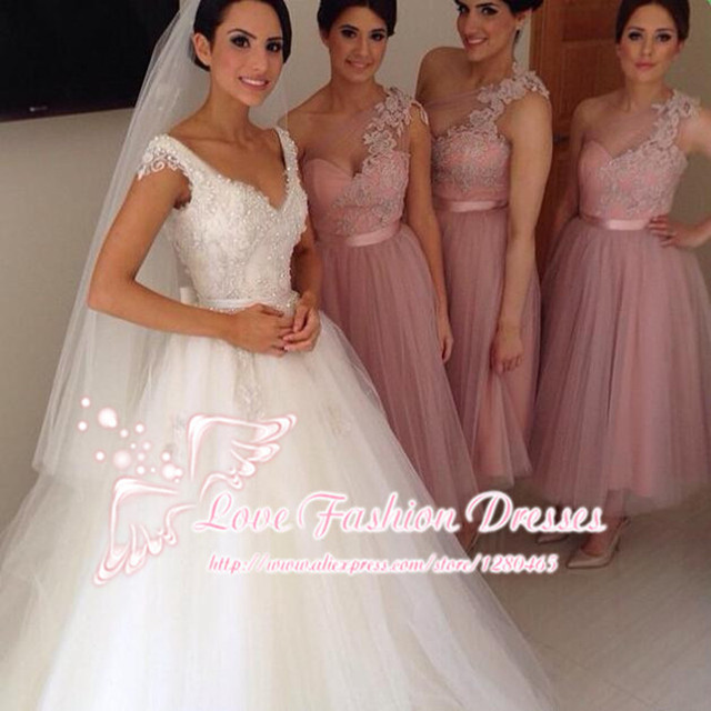 Short Blush Pink Bridesmaid Dresses for Wedding Prom Dress One ...
