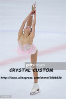 Crystal Custom Figure Skating Dresses Girls New Brand Ice Skating Dresses For Competition DR4557