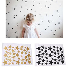 39 Star Gold Silver Black White Stars Pattern PVC DIY Wall Art Decals for Kids Room Decoration Wall Stickers Home Decor(China)