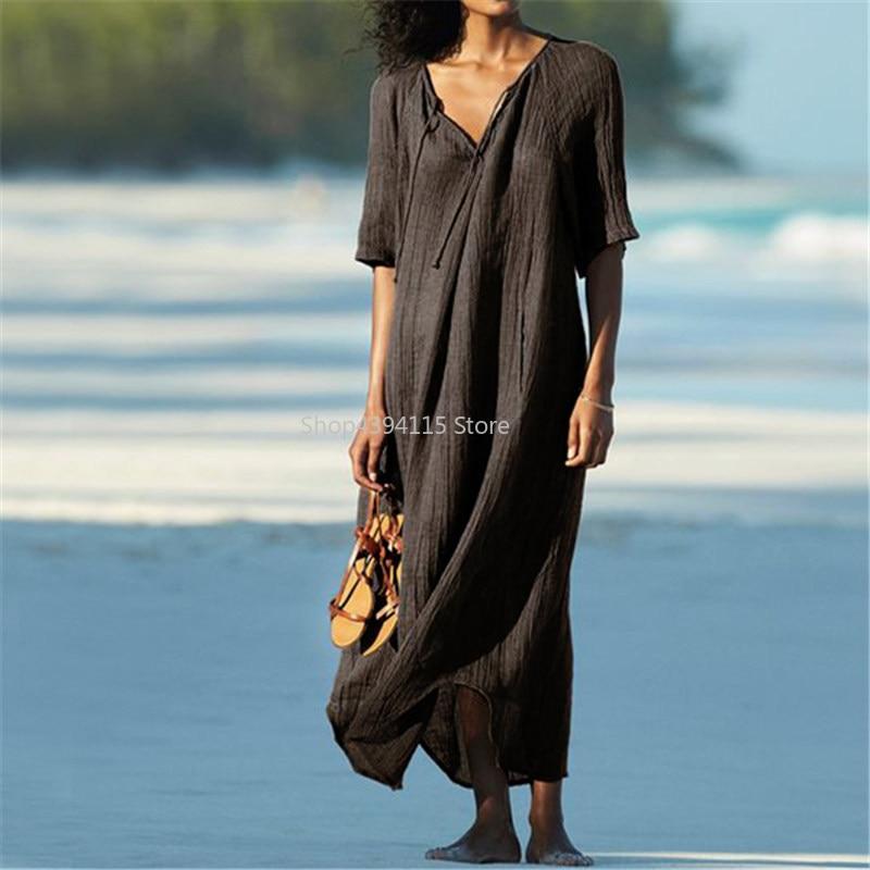 2019 Long Beach Dress Beach Coverups For Women Pareo De Plage Swimsuit Cover Up Beach Sarongs Swimwear Kaftan Beach Elegant In Style