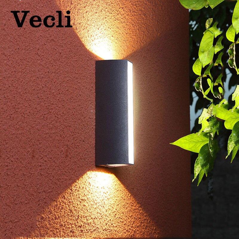 Светодиодное наружное настенное освещение, водонепроницаемая садовая лампа для лестниц, прохода, водонепроницаемое освещение, уличные нас