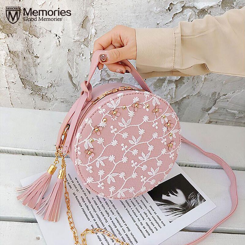 Women PU Leather Flower Shoulder Bags Handbags Messenger Purse Satchel Tote