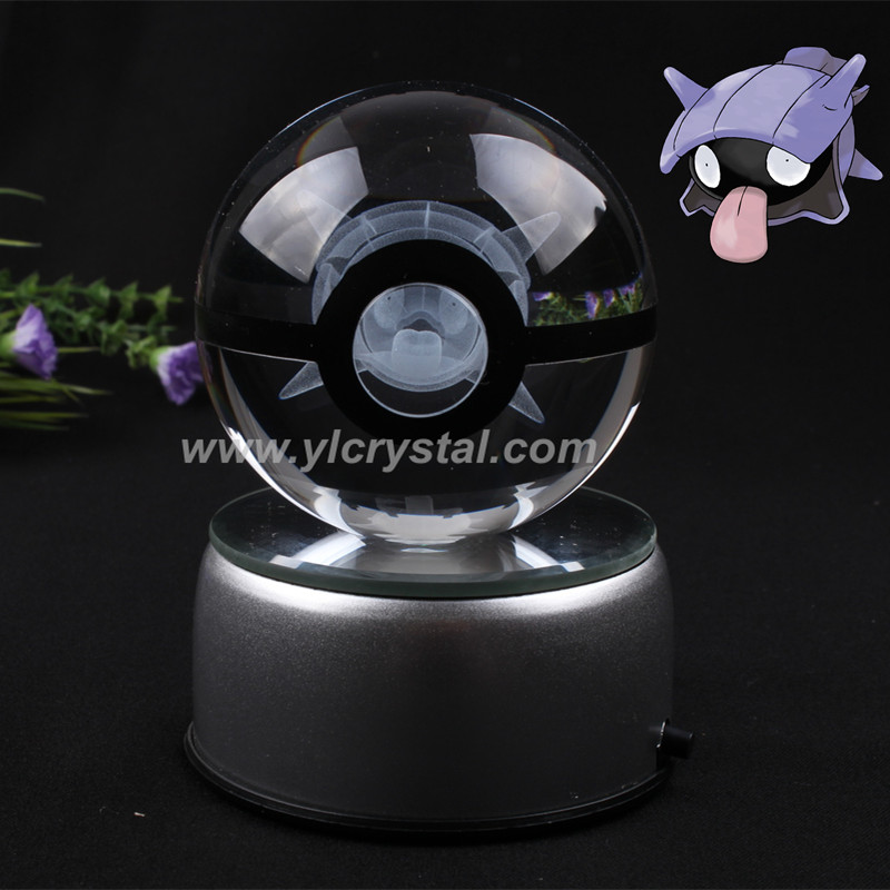 Lovely Pokemon design Shellder Crystal Pokemon Ball With Gift box