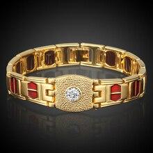 Стильный Прохладный браслет Для женщин/Для мужчин Мода золото Цвет одном направлении Изысканные часы золотой браслет-цепочка для мужской ювелирные изделия оптом