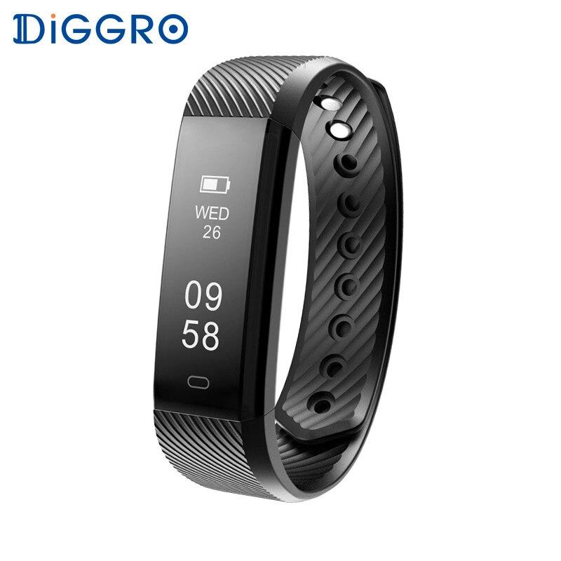 imágenes para Diggro ID115 HR Pulsómetro Pulsera Pulsera de Fitness Deporte Rastreador Bluetooth Impermeable id115hr Smartband para iphone