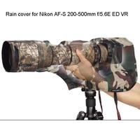 ROLANPRO Rain Cover Raincoat M Size for Nikon AF S 200 500mm f/5.6E ED VR Telephoto lens Army Green Camouflage Waterprrof Guns