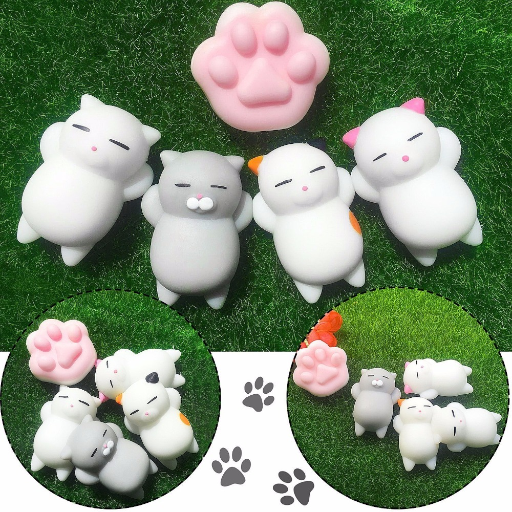 Купить с кэшбэком Mini Change Color Squishy Cute Cat Antistress Ball Squeeze Mochi Rising Abreact Soft Sticky Stress Relief Funny Gift Toy