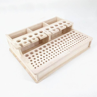 Soild Wood DIY Handmade Hand Stitched Storage Box Leather Carved Cut Toolbox Printing Tool Holder 3