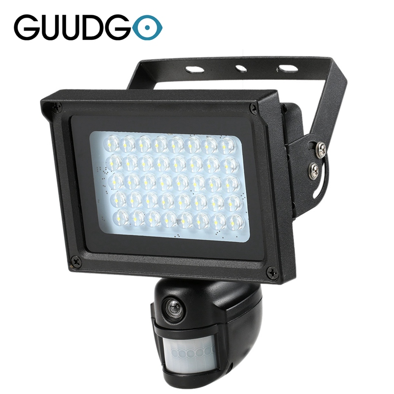 720P Solar IP Camera CCTV Security Camera DVR Recorder PIR Motion Detection With 40 IR LEDS Solar Floodlight Street Lamp