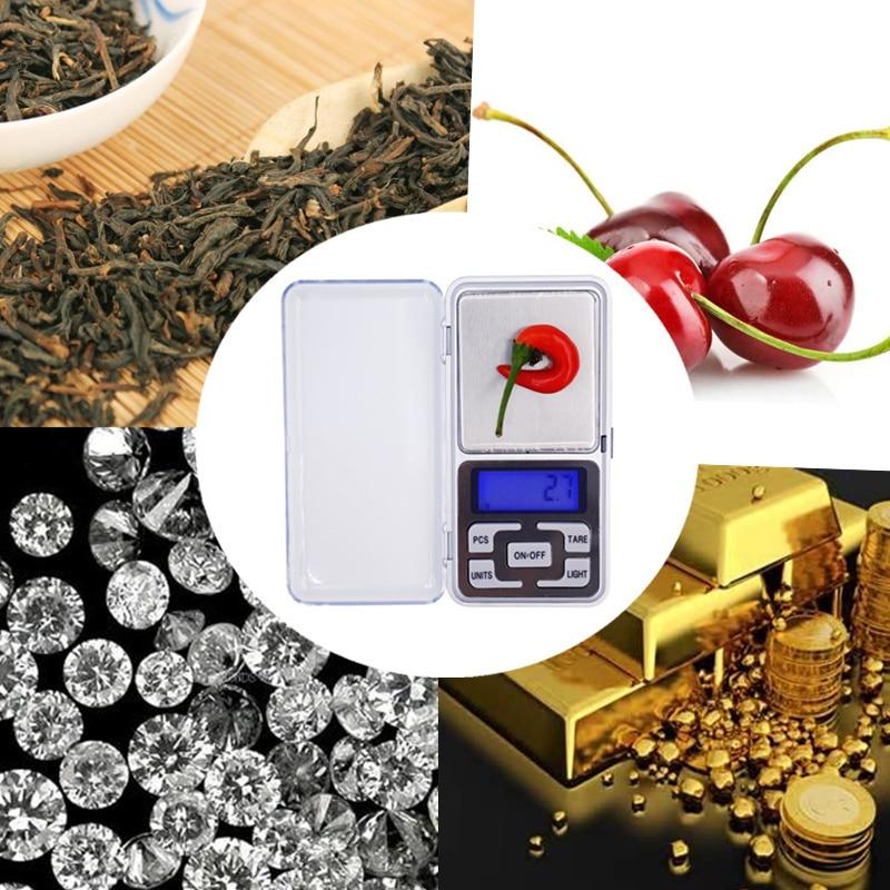 1 kg 0.1g Cyfrowa elektroniczna Przenośna biżuteria Jedzenie - Przyrządy pomiarowe - Zdjęcie 6