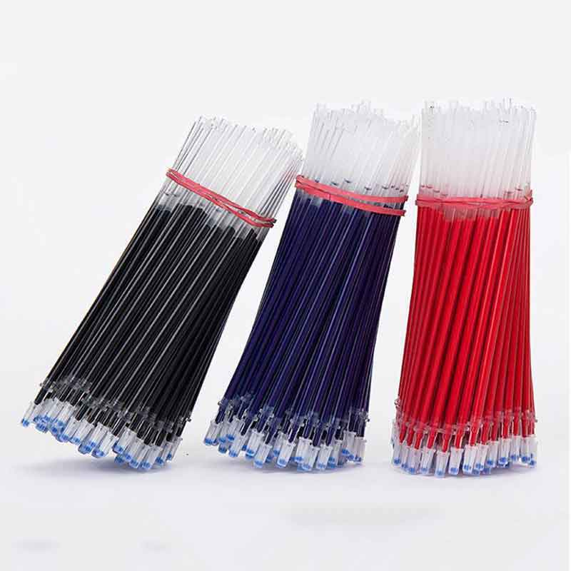20pcs/lot 0.38mm Neutral Ink Gel Pen Refills Set Korean Stationery School Office Supplies Black Blue Red Ink Pen Pinhole Refills 3pcs set kacogreen liquid ink gel pen plastic student office writing pens black blue red ink school supplies stationery