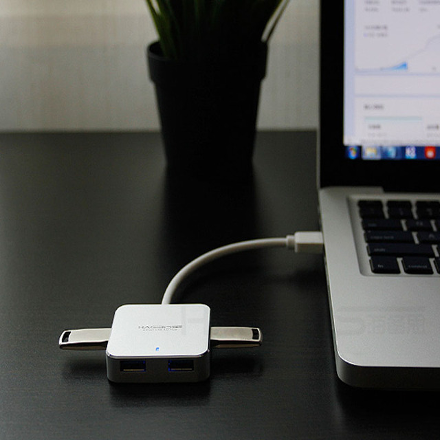 Hagibis USB 3.0 Hub External 4 Ports Super Speed Usb Hub 3.0 Splitter USB Power Interface for Computer Macbook Usb Port Splitter USB Hubs