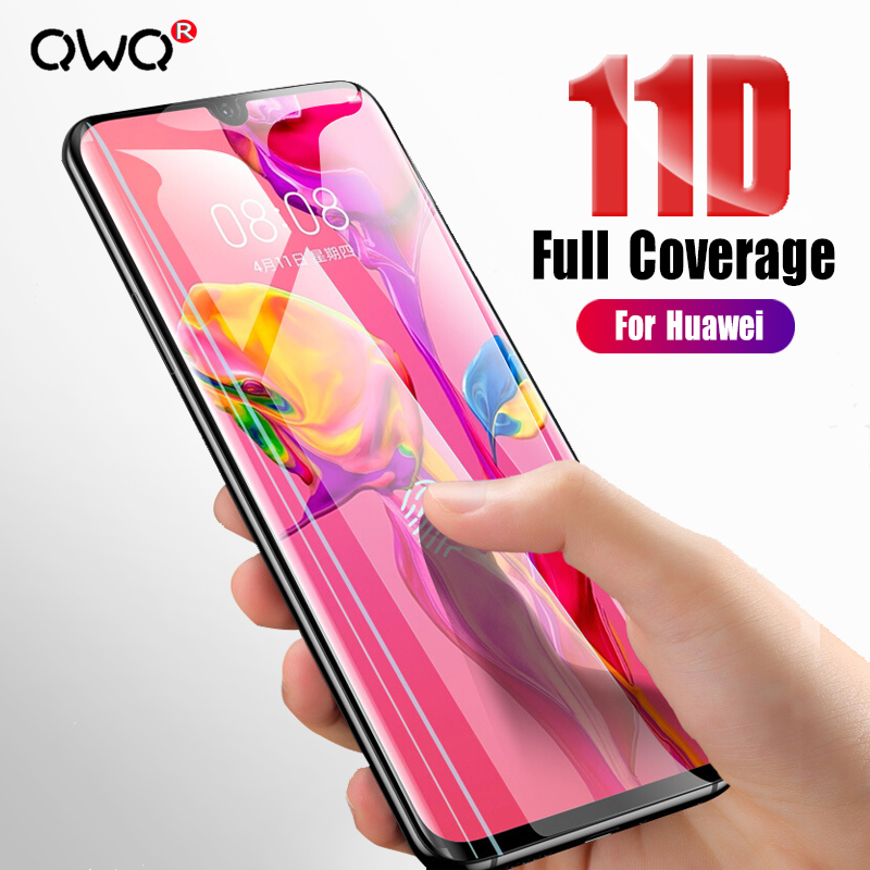 11D Full Cover Tempered Glass For Huawei P30 Pro P20 Lite P Smart 2019 Screen Protector Film For Huawei Mate 20 10 Lite Glass
