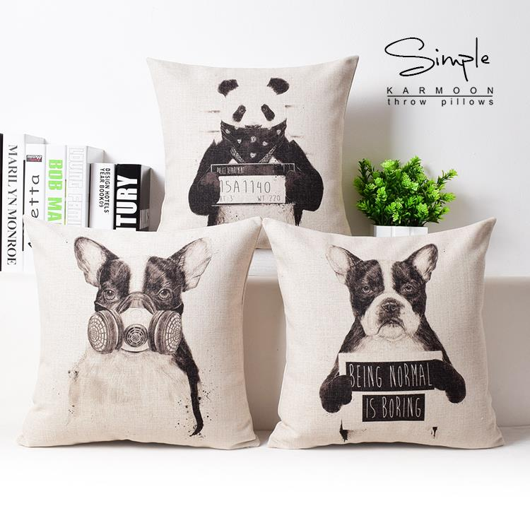 creative black white panda dog pillow cartoon pillow cushion linen cushion