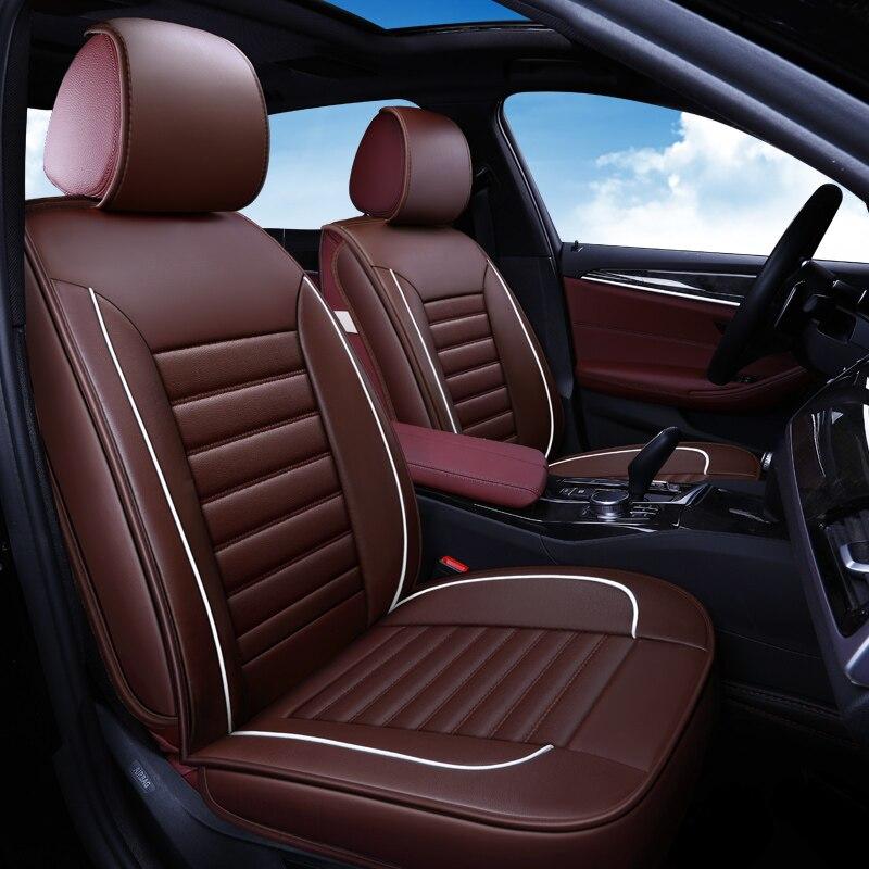 Housse de siège de voiture 9 pièces PU cuir protecteur de siège de véhicule accessoire Auto pour Chevrolet Captiva 2017 Chevy Cruze Epica Equinox 2018