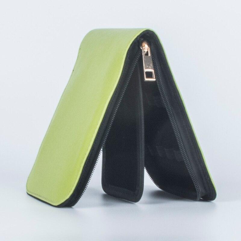 купить HIGH QUALITY LUXURY green ROLLER AND FOUNTAIN PENS CASE HOLDER FOR 12 PEN по цене 566.73 рублей