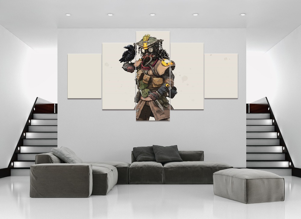 5 Piece HD Print Wall Art Canvas Art For Living Room Decor Apex legends hero blood dog Game Painting Wall Art Canvas Home Decor in Painting Calligraphy from Home Garden