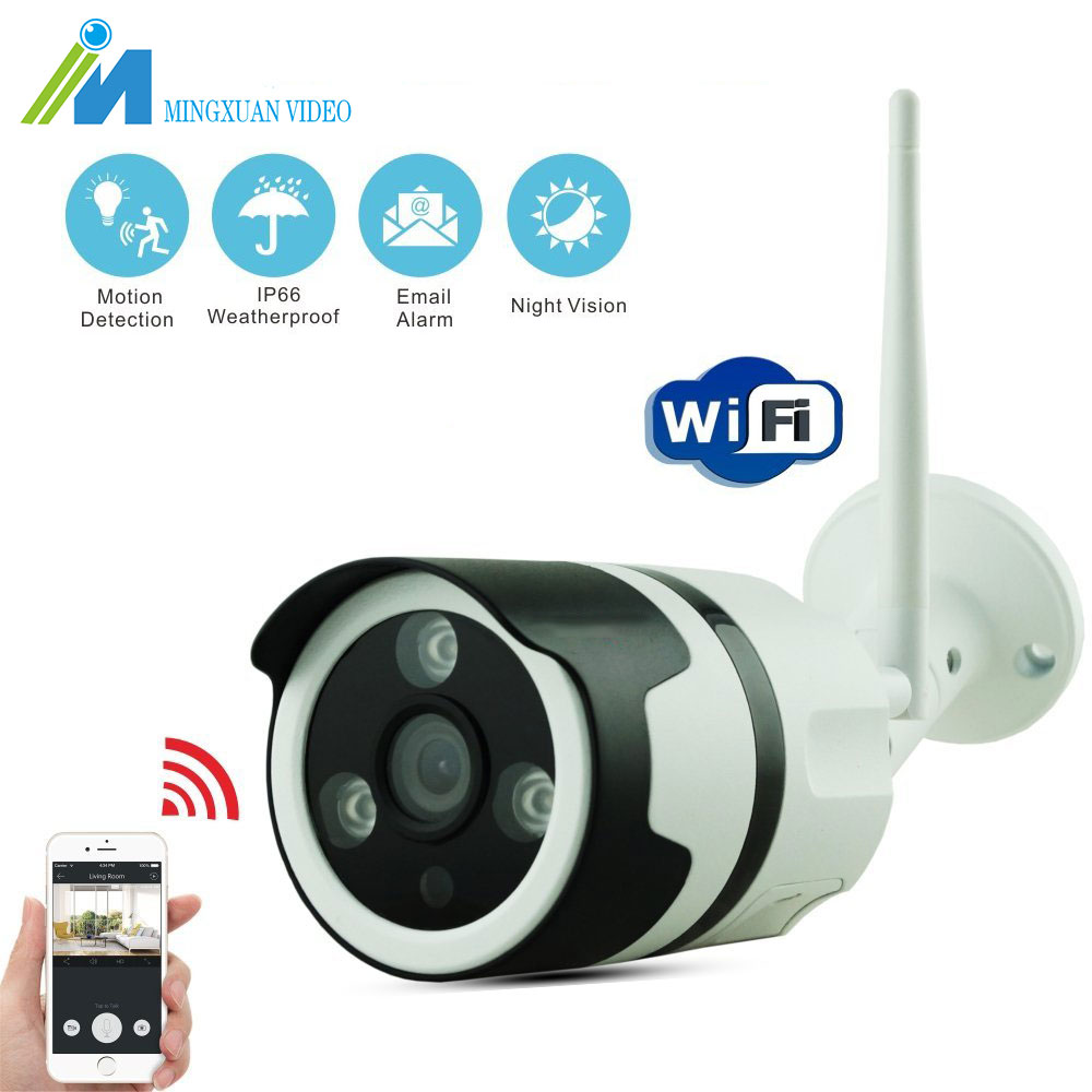 HD 1080P IP Camera Wireless Wifi Bullet Camara Outdoor Waterproof Night Vision IR Cut Onvif P2P Home Security Camara waterproof ip65 ir cut night vision mini hd 720p ip camera wireless wifi bullet onvif p2p home security camara with card slot