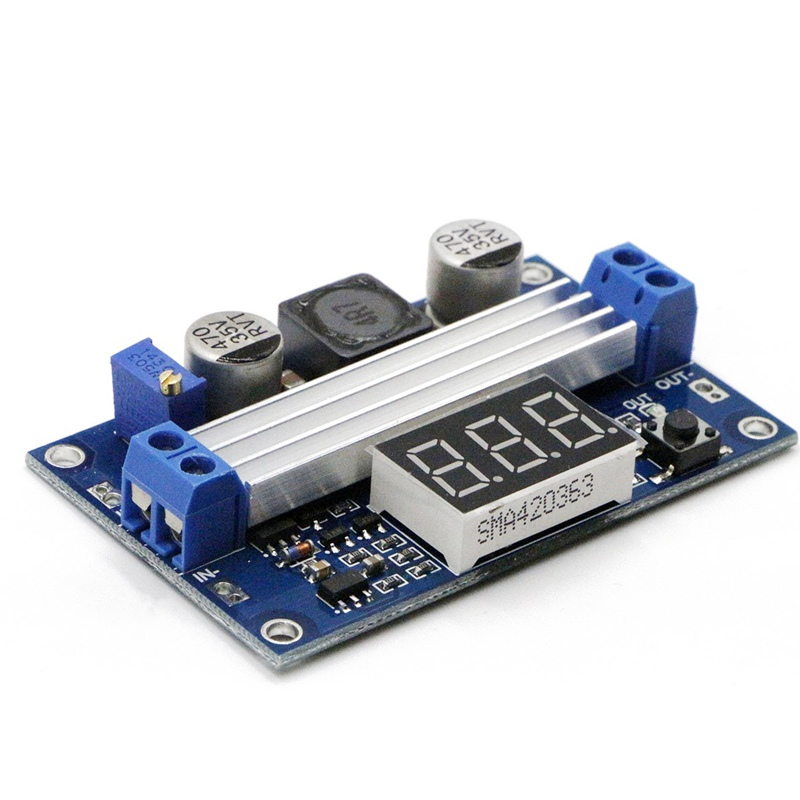 цена на Adjustable Boost 3~35V to 3.5~35V 5/12V DC Regulated Power Supply Voltage Converter Module with Digital Voltmeter