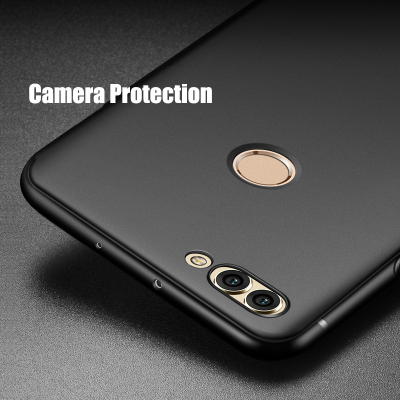 more photos 8fe95 2c596 US $4.27 |MAKAVO Cover For Huawei Y9 2018 Case 360 Protection Soft Silicone  Matte Phone Cases For Huawei Y7 Prime 2018 Cases-in Fitted Cases from ...