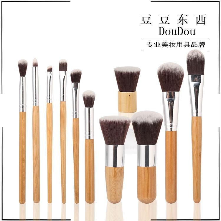 11 STKS Hoge kwaliteit professionele make-up borstel set zachte - Make-up