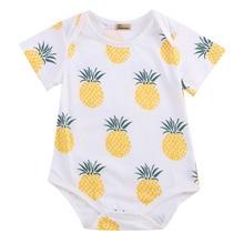 Модная одежда для маленьких мальчиков и девочек, хлопковый комбинезон с короткими рукавами, боди, летняя одежда для детей 0-24 месяцев