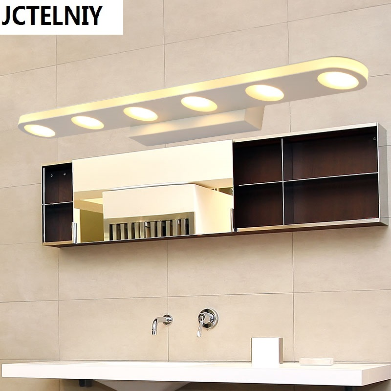 Mirror light led modern brief acrylic mirror cabinet lamp bathroom lamp wall lamp lamps cosmetic lighting luxury modern white acrylic 12w led bathroom wall lamp mirror front fashion wall light showroom washroom wall lamp