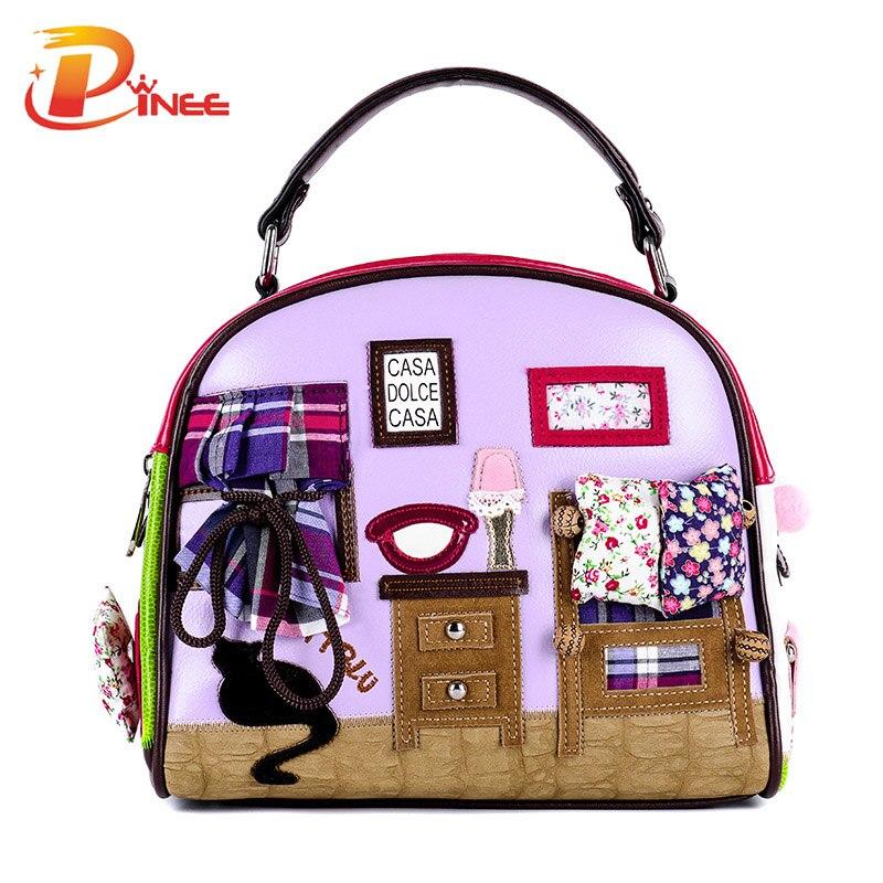 ФОТО Fashion Women Shoulder Bag Italy Braccialini Handbag Style Retro Handmade Stylish Woman Messenger Bags
